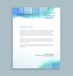 Abstract modern letterhead design vector