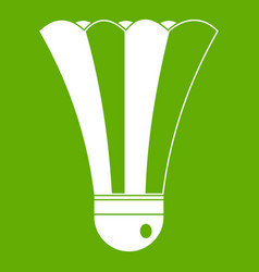 black and white shuttlecock icon green vector image vector image