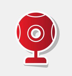 Chat web camera sign new year reddish vector
