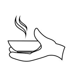 Hand waiter isolated icon vector