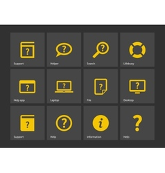 Help and FAQ icons vector image