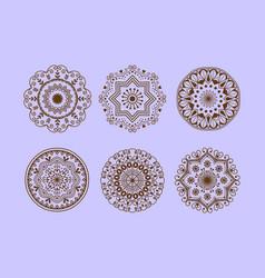 Henna tattoo mehndi flower template doodle vector