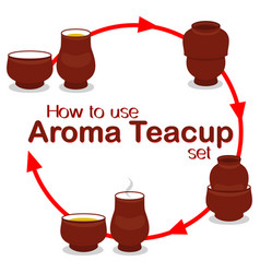 How to use chinese aroma tea cup pair set vector