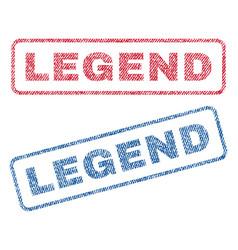 Legend textile stamps vector