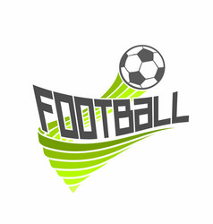 Logo for football vector