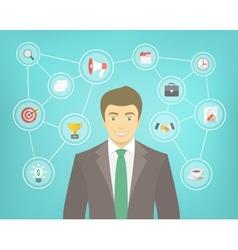 Modern Businessman Conceptual Infographics vector image