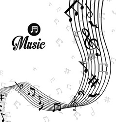 Music digital design vector image vector image
