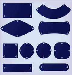 plastic plates set vector image