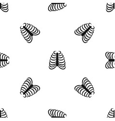 rib cage pattern seamless black vector image vector image