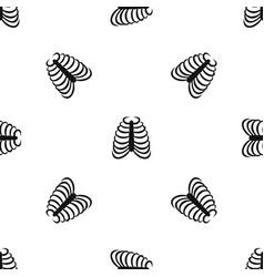 rib cage pattern seamless black vector image
