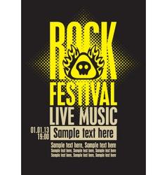 Rock festiva vector