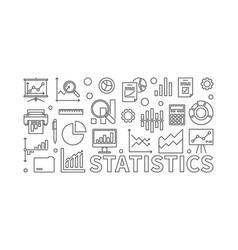 statistics line vector image vector image