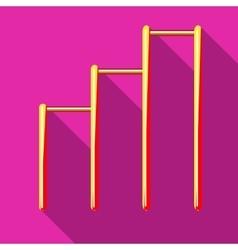 Three horizontal bars icon flat style vector image