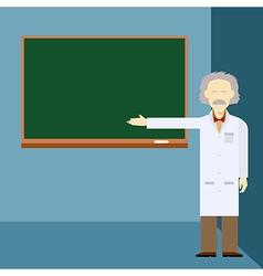Scientist and school board vector image