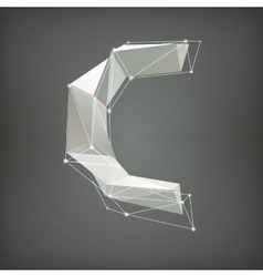 Low poly alphabet letter vector image