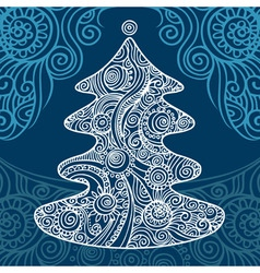 Stylish christmas tree vector