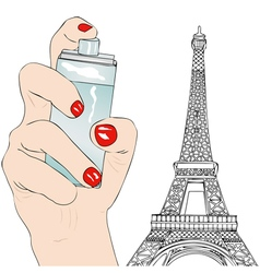 Perfume of paris vector
