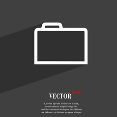 Folder icon symbol flat modern web design with vector