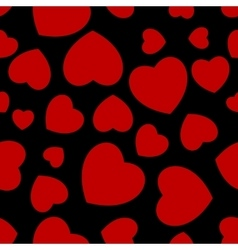 Seamless red hearts vector