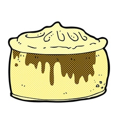 Comic cartoon pie vector