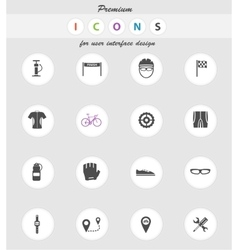 Bycicle simply icons vector