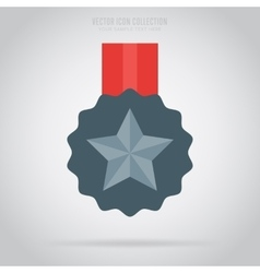 Winner isolated medal label or sticker vector
