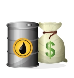 Flat about oil price petroleum and vector