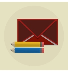 email design envelope icon Colorfull vector image