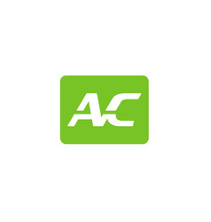 ac letter logo vector image