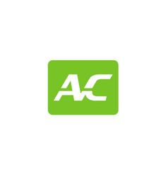 Ac letter logo vector