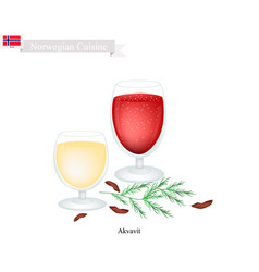 Akvavit or aquavit a traditional dink in norway vector