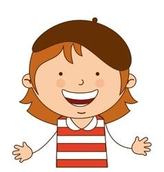 australian girl character icon vector image