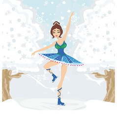 beautiful figure skater vector image vector image