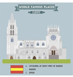 Cathedral of saint mary of burgos vector