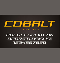 Cobalt decorative font design alphabet typeface vector