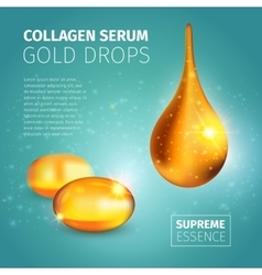 Collagen serum poster vector