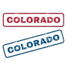 Colorado rubber stamps vector