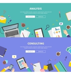 Concept of consulting service analysis vector