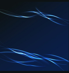 dark blue futuristic streak wave layout vector image
