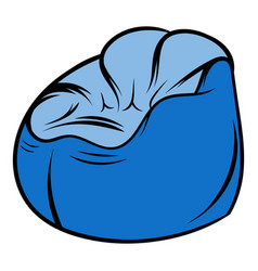 flexible chair icon cartoon vector image