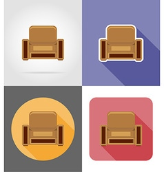 Furniture flat icons 24 vector