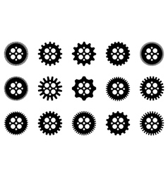 gear collection vector image vector image
