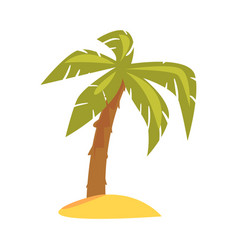 Green tropical palm cartoon vector