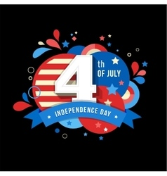 Happy independence day of America 4 th July vector image vector image