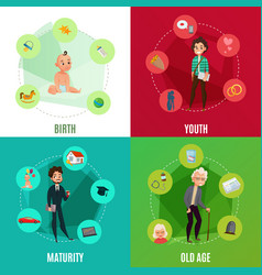 Human life cycle concept vector