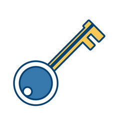 Key door isolated vector