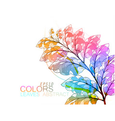 Leaves abstract vector