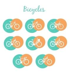 Modern bicycles set vector