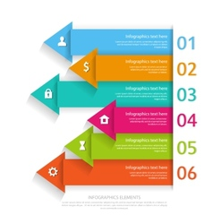 Modern business infographics abstract arrows vector image