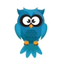 Owl bird cartoon vector